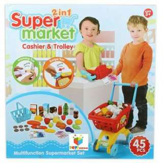 2in1 Mini Supermarket Toy Set