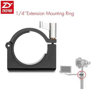 "Zhiyun Extension Ring with 1/4"" Screw Holes for Zhiyun Smooth Q, Crane M, Crane 2 Gimbal"