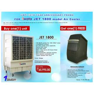 Iwata Air cooler with freebies