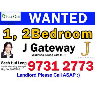 URGENT - J GATEWAY 1 AND 2 BEDROOM WANTED