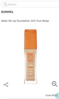 RIMMEL WAKE ME UP FOUNDATION SHADE 203