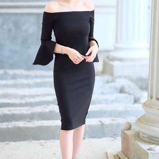 Frill dress black
