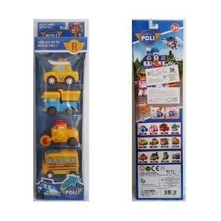 Mainan Robocar poli friend set isi 4pcs
