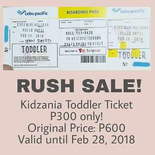 Kidzania Toddler Ticket