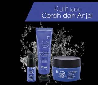 Brightening Series Whitening cleanser, Anti-Aging Moisturiser, Super HA Serum