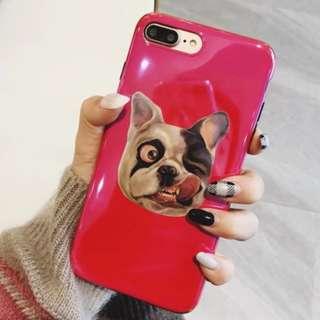 手機殼IPhone6/7/8/plus/X : 調皮Bulldog牛頭犬