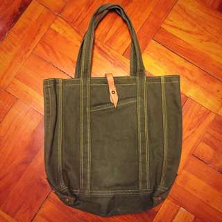 Vintage Tote Bag (Olive Color)