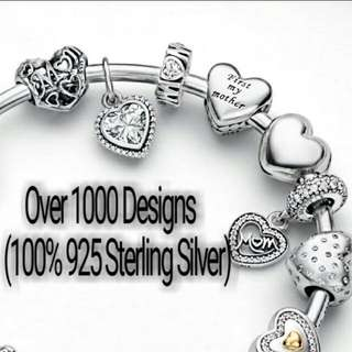 Over 1000 Designs (925 Sterling Silver Charms) To Choose From, Compatible With Pandora, T09