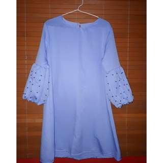 Blouse blue mutiara