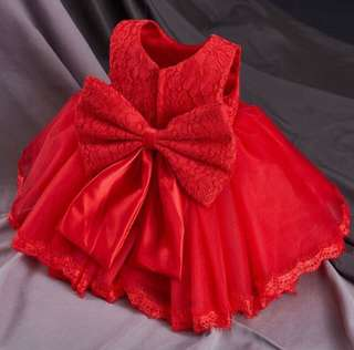 Baby Red Gown
