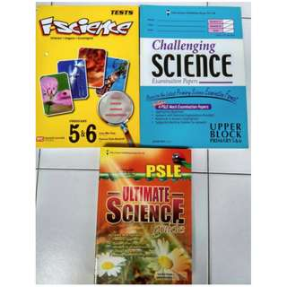PSLE Ultimate Science, Challenging Sc Exam Paper, i.Sc Test (3 books for $10)
