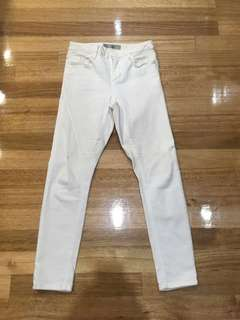 Topshop Off White Jamie Jeans