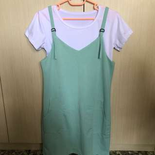2 pc turquoise dress