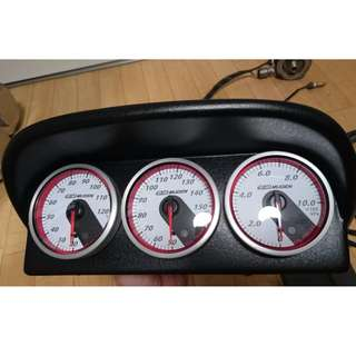 Interest Check - Authentic Mugen Oil Temp Oil Press and Water Temp Gauge