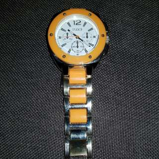 Studio Time Gold Tone Orange Watch