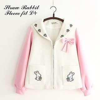 MLA - 0218 - Outwear Jaket atau Sweater Straw Rabbit