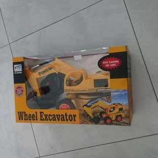 Wheel excavator/with plashing led light