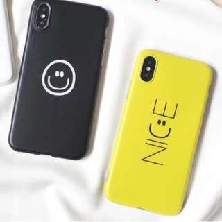 手機殼IPhone6/7/8/plus/X : 簡約NICE笑臉