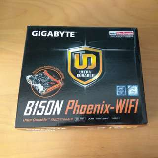 Gigabyte B150N Phoenix Mini-ITX Motherboard 1151 DDR4 M.2 Type-C Wireless-AC