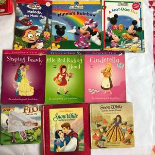Kids books :little Einstein/ Mickey Mouse / sleeping beauty / little red riding Hood / Cinderella / Snow White / bugs life