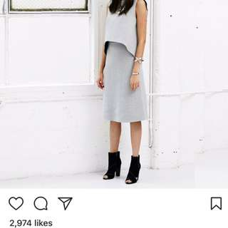kookai surface skirt