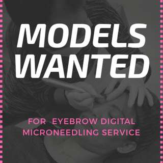 Models wanted for free Eyebrow embroidery