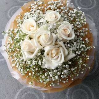 Anniversary Flower Rose Bouquet White Rose Bouquet ROM Rose Bouquet