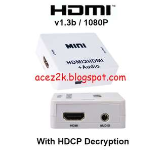 [BNIB] HDMI to HDMI + Audio Out with HDCP Decryption (Brand New Boxed)