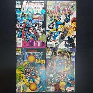 4 Marvel Comics THE TERMINATRIX OBJECTIVE AVENGERS #1 to 4 (set)