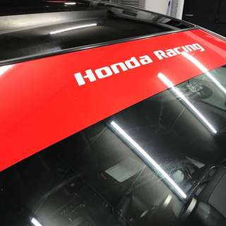 Honda racing sunshade sticker