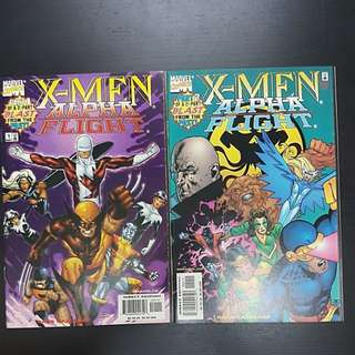 1998 2 Marvel Comics X-MEN ALPHA FLIGHT #1 to 2 (set)