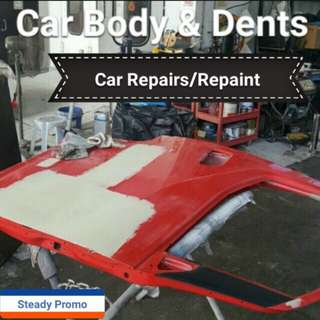 Car Dents, Panel Repairs & Repainting