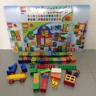 Preloved Lego Duplo 6051 Play with Letters
