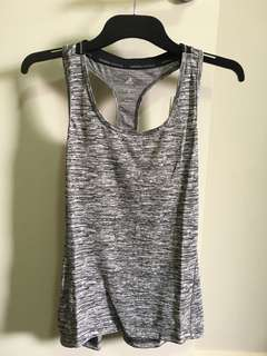 Adidas Climalite Running Singlet - Grey; Size S