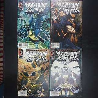 4 Marvel Comics REVELATION WOLVERINE THE PUNISHER #1 to 4