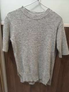 TRADES ALLOWED!! Grey knitted top (comes in white as well)