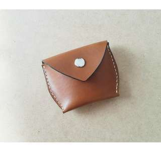 Handmade leather coin wallet / leather coin pouch/leather coin purse