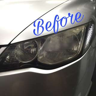 Civic fd headlamp light blue tint