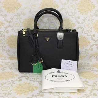 Prada Saffiano Black Leather