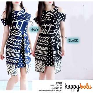 Monochrome Batik Dress