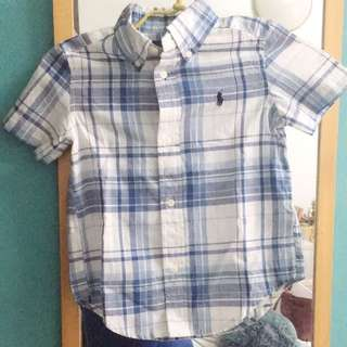 Ralph Lauren Checkered Shirt (2 Years Old)