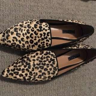 Topshop Leopard Flats