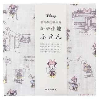 日本代購: 精品系列: (日本製) 手巾(手絹) 迪士尼 可愛米妮 Lovely Minnie 款(細, 30*40cm)
