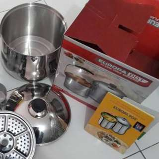 Europa Pot Flame Free Cooking Panci Stainless Steel Murah Like Izzy Cook