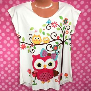 Owl Colorful Blouse