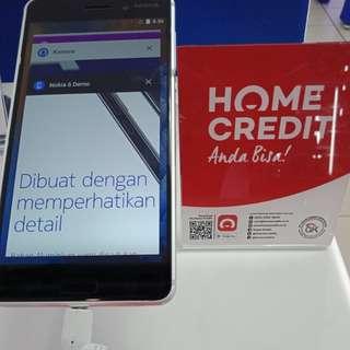 Dijual Nokia 6 Promo Bunga 0,99% Pakai Home Credit