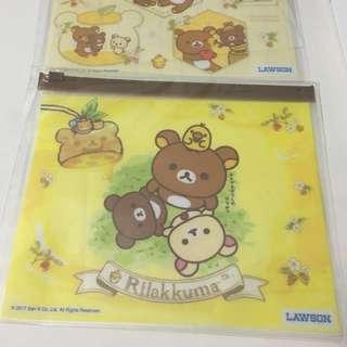 🚚 小熊世界~日本Lawson超商景品拉拉熊夾鏈收納袋 現貨