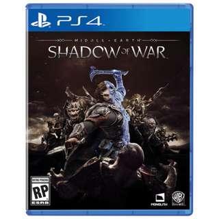 PS4 Shadows Of War