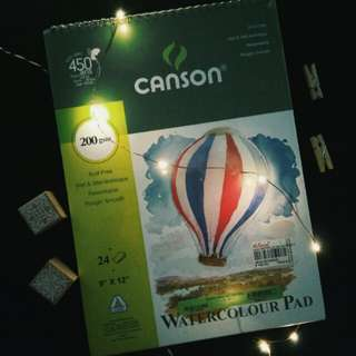 CANSON WATERCOLOUR PAD