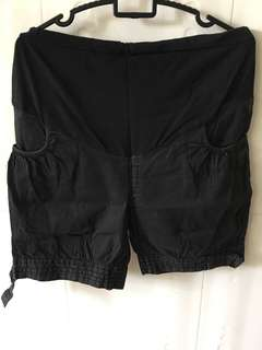 2 for 10sgd Maternity Shorts Black&Brown Color